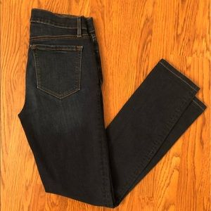 LOFT Dark Wash Skinny Crop Jeans Size 2 Tall